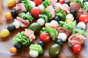 salade brochettes